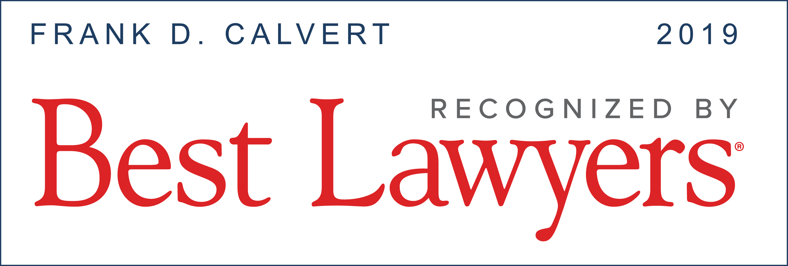 U.S.News & World Report - Best Lawyers 2019